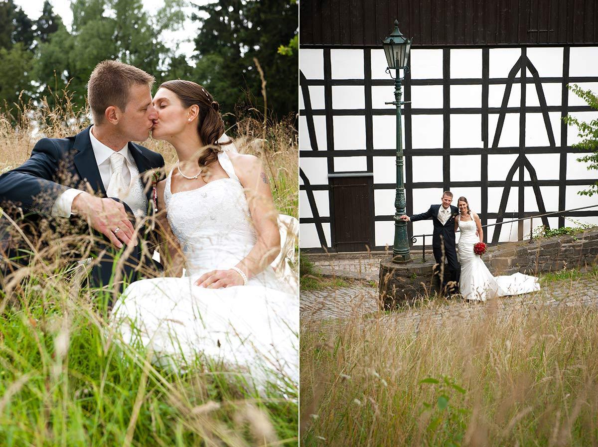 Hochzeitsfotograf Hagen: Junges Brautpaar im Hagener Freilichtmuseum