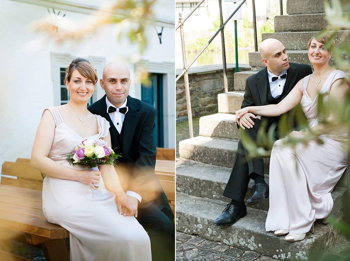 Hochzeitsfotograf Dortmund: Hochzeitsportrait Wasserschloss Haus Rodenberg in Dortmund Aplerbeck