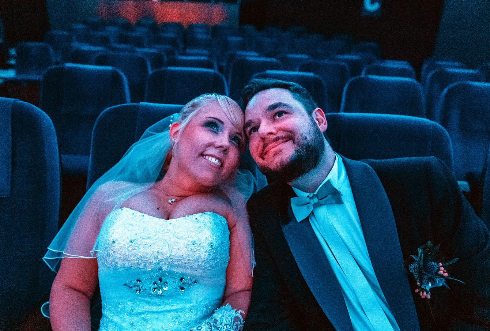 Brautpaar im Planetarium Bochum