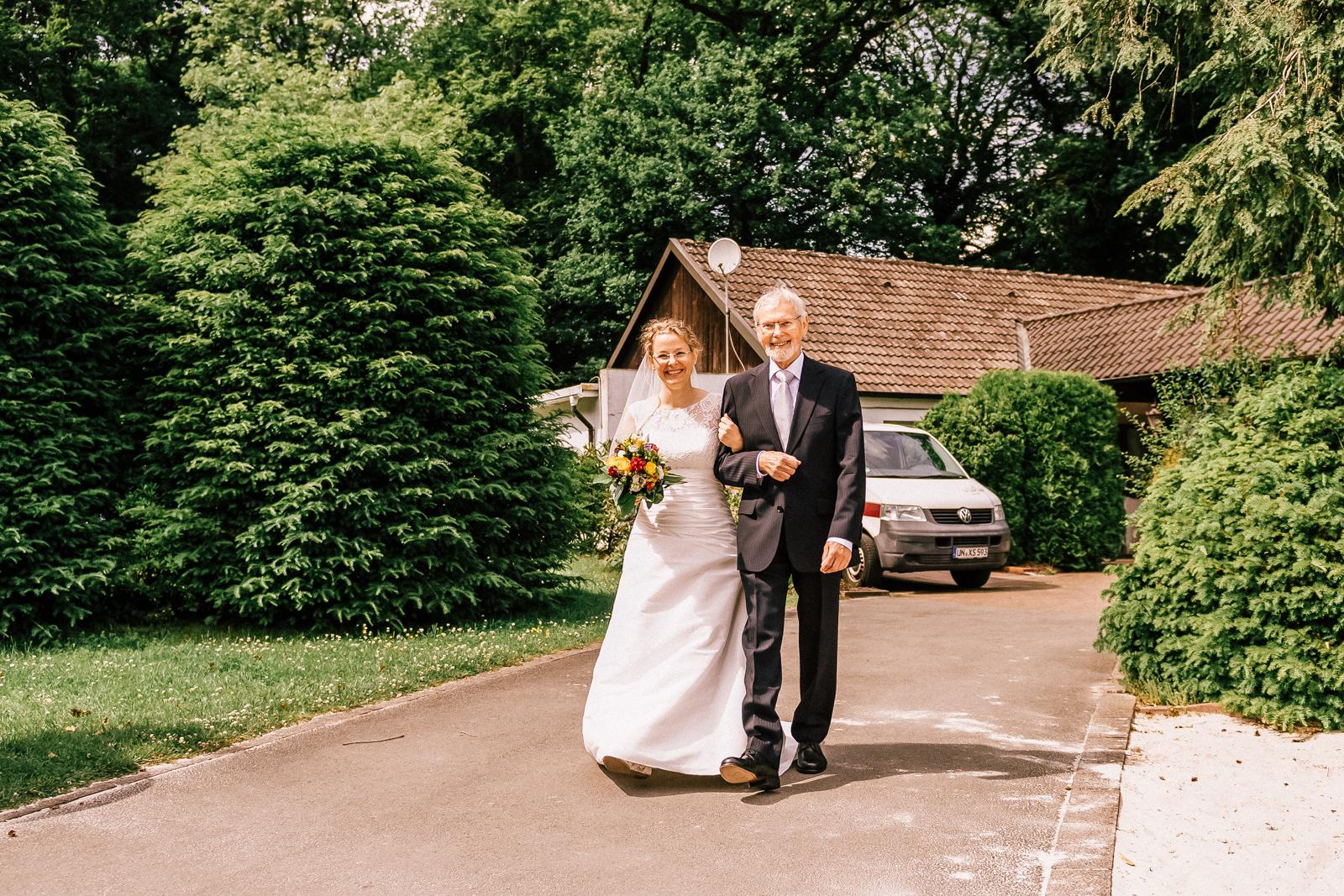Braut mit Vater in Schwerte