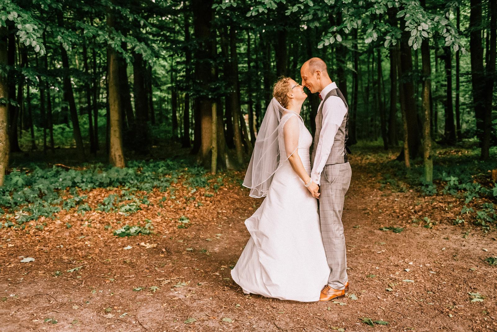 Wald in Schwerte, Hochzeit Portrait