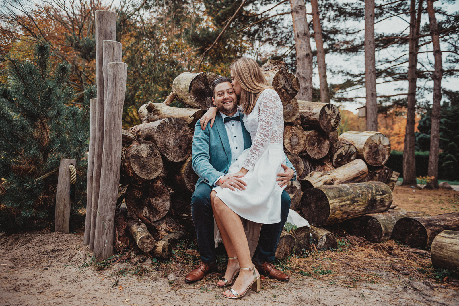 Hochzeitsfotos in den Dünen des Romergpark Dortmund