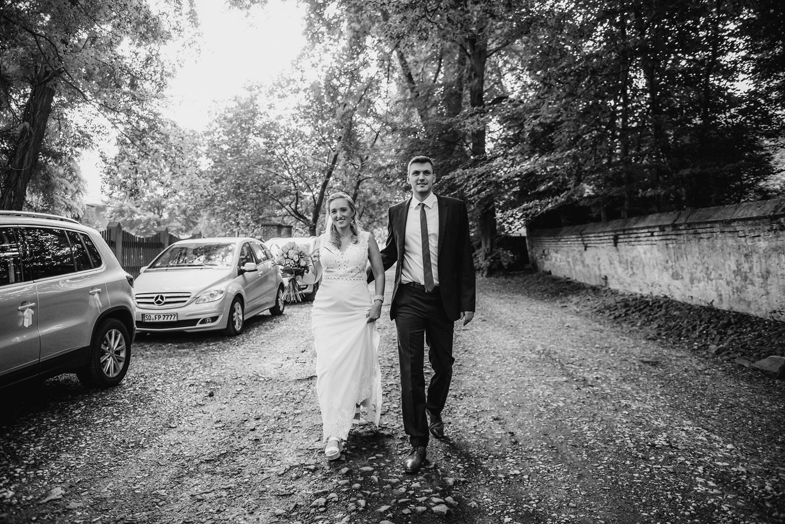 Hochzeitsfotos in Schwarz Weißß