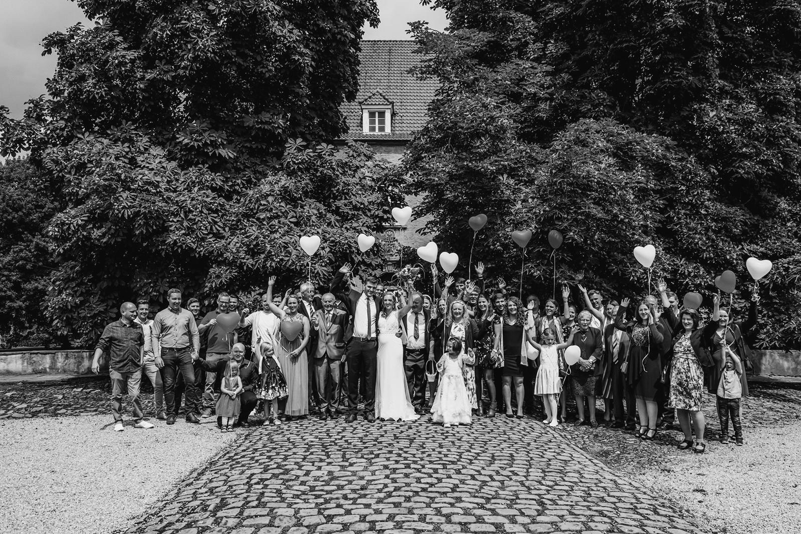 Hochzeitsgesellschaft Gruppenbild